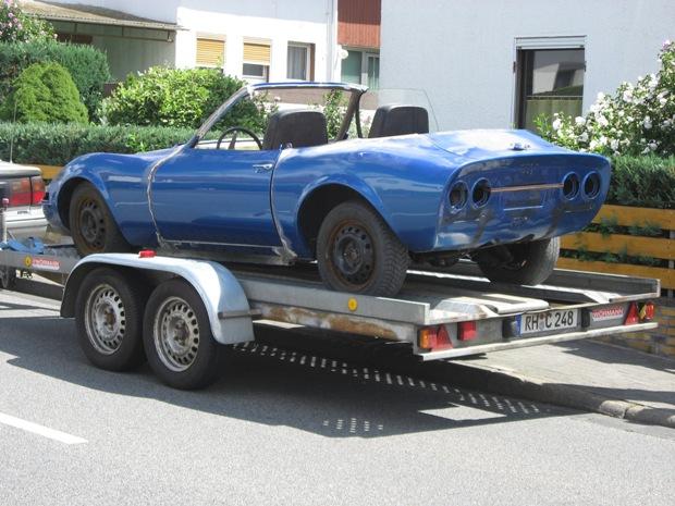 Sommer 2008 - der dritte GT , ein Cabrio. Fahrgestellnummer 792818373 Umbau